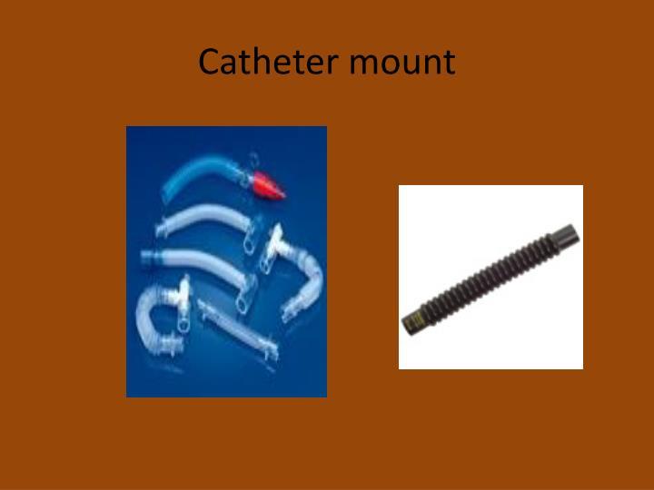 Catheter mount
