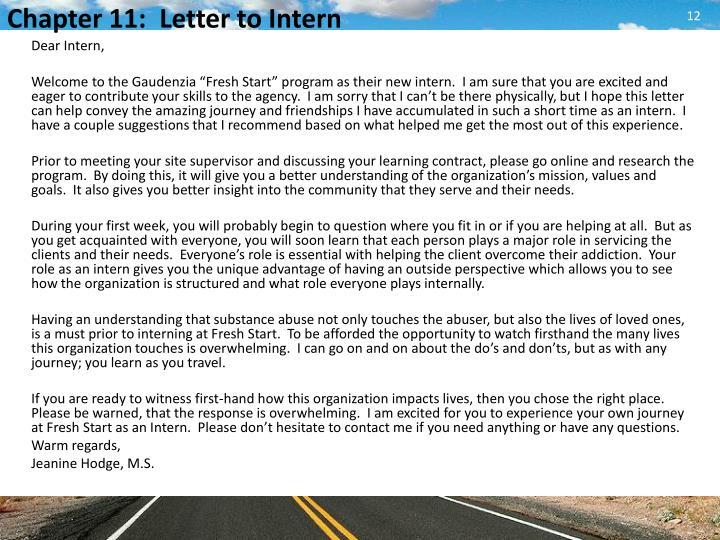 Dear Intern