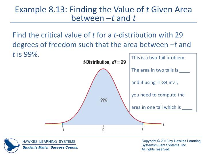 Example 8.13: Finding the Value of