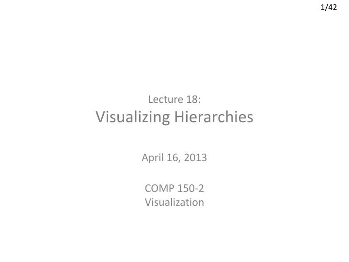 lecture 18 visualizing hierarchies n.