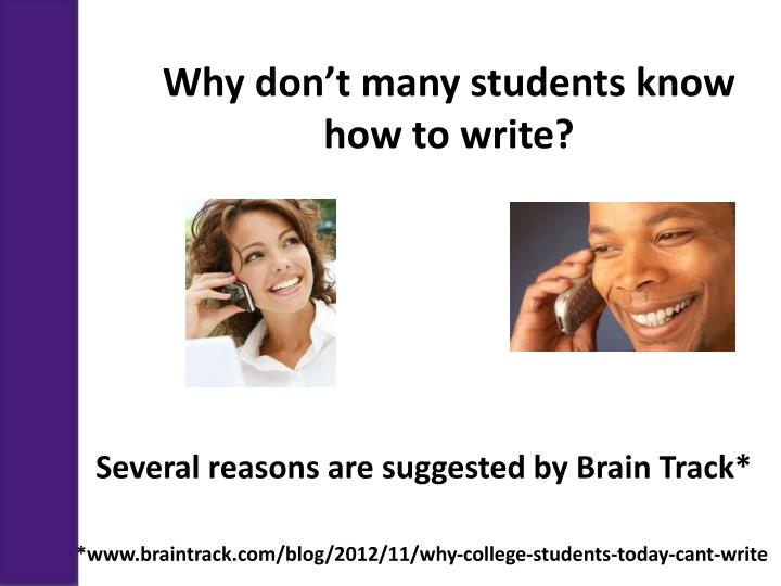 Why don't many students know