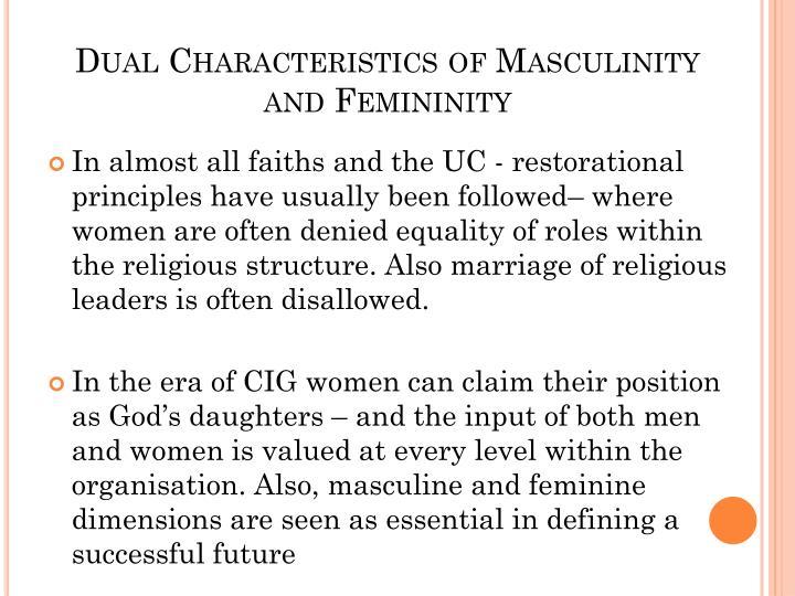 Dual Characteristics of Masculinity and Femininity