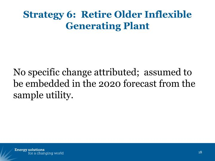 Strategy 6:  Retire Older Inflexible Generating Plant