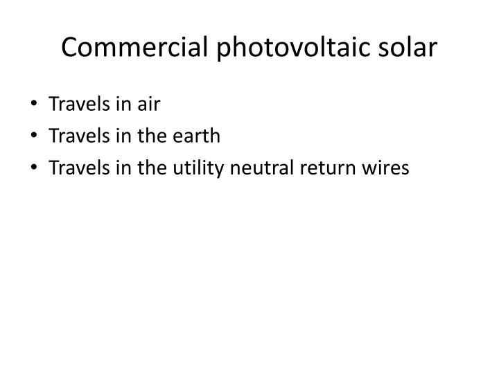 Commercial photovoltaic solar