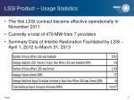 lssi product usage statistics