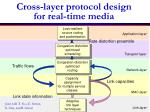 cross layer protocol design for real time media