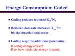 energy consumption coded