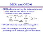 mcm and ofdm