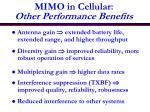 mimo in cellular other performance benefits