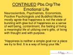continued pbs org the emotional life1