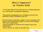 what is happiness by daisaku ikeda