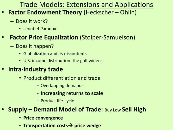 overlapping demand is different from the other trade theories Fourth, seasonal or other periodic fluctuations in output or demand can lead to intraindustry trade in homogeneous goods 7 horizontally differentiated goods are goods that are perceived to be different in some slight way, although their prices are similar.