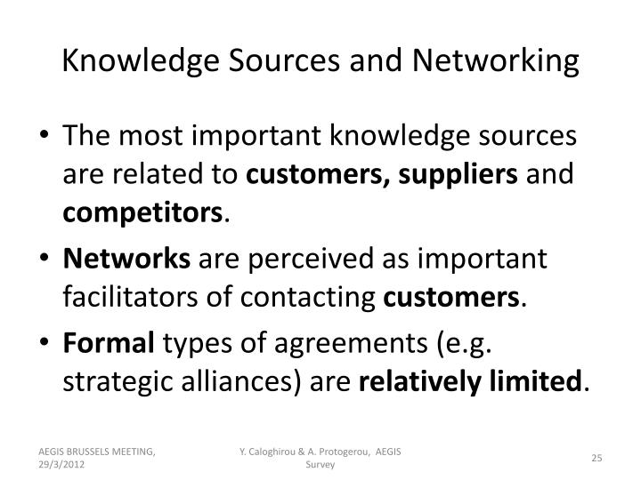 Knowledge Sources and Networking