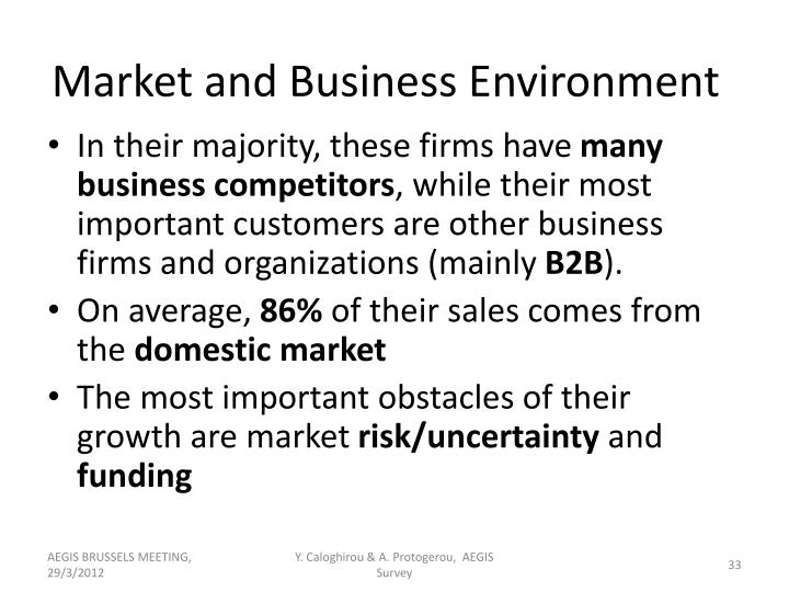 Market and Business Environment