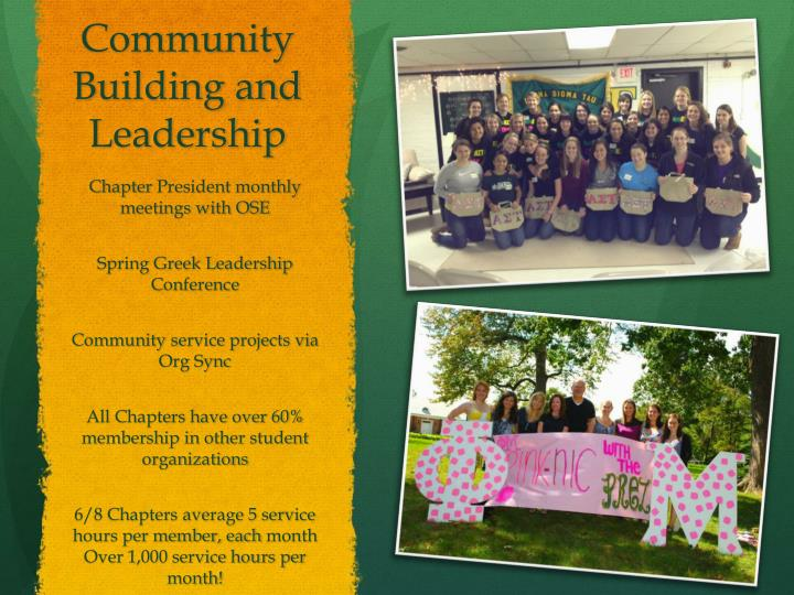 Community Building and Leadership