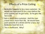 effects of a price ceiling2