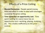 effects of a price ceiling4