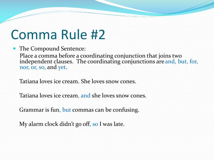 Basic comma rules powerpoint by Keegan for Kids | TpT
