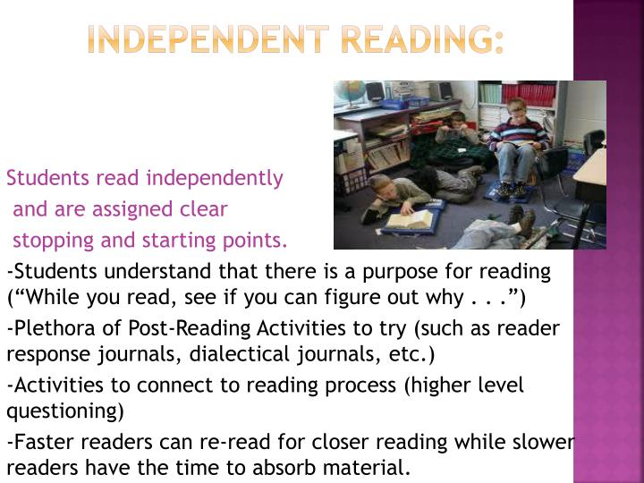 Students read