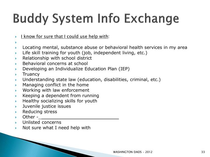 Buddy System Info Exchange