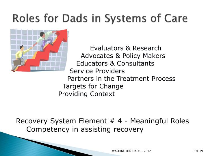 Roles for Dads in Systems of Care