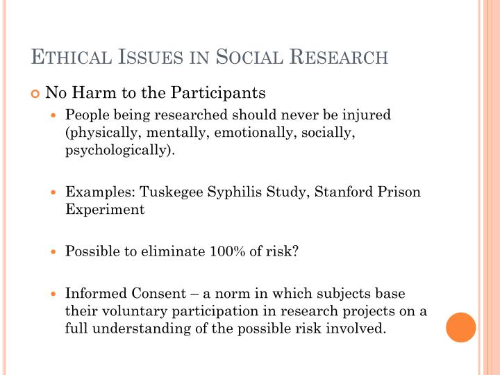 ethical issues in social research 2 essay Ethical issues that are encountered in applied social research are both subtle and complex, raising difficult moral dilemmas that, from the outside, appear unresolvable with these dilemmas the researcher is required to strike a delicate balance between the scientific or social requirement of methodology and the human rights and values.