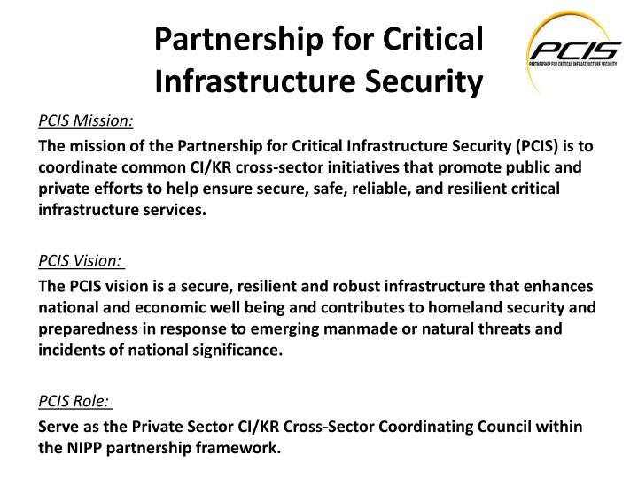 partnership for critical infrastructure security n.