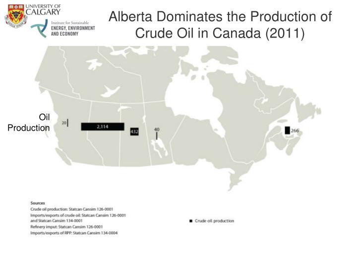 Alberta Dominates the Production of Crude