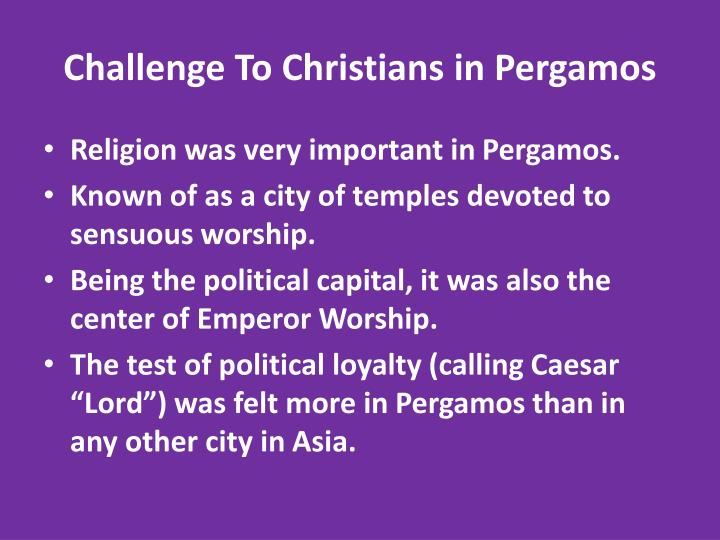 Challenge To Christians in