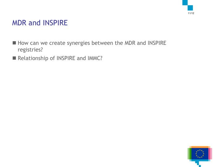 MDR and INSPIRE