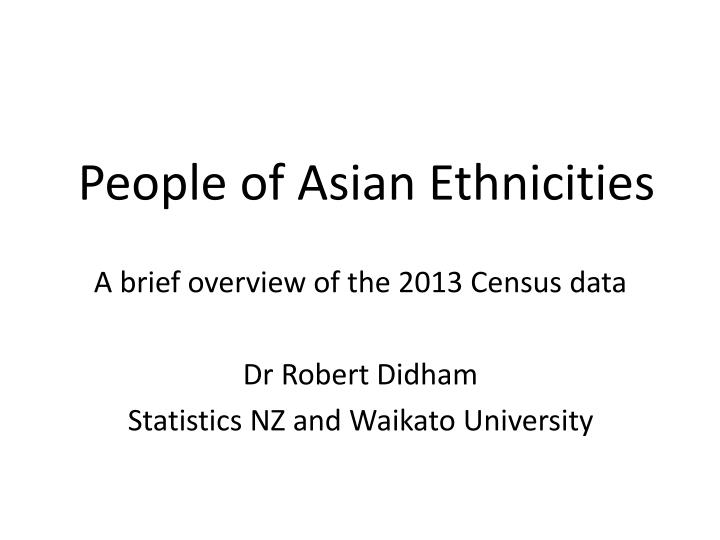 people of asian ethnicities