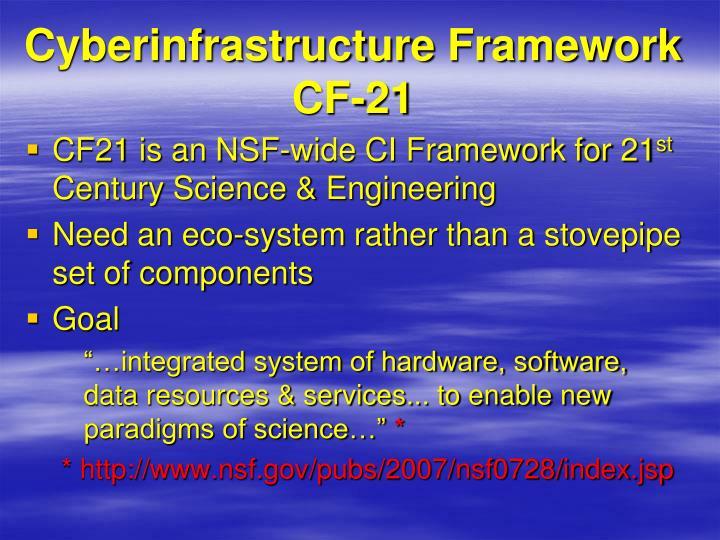 Cyberinfrastructure