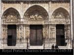 royal portal chartres cathedral 1145 55