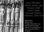 saints theodore martin jerome and gregory jamb statues south transept chartres cathedral 1220 1230