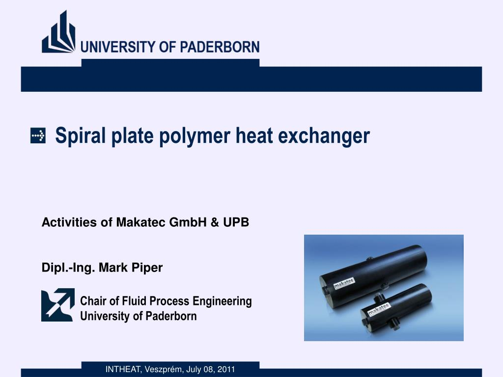 Ppt Spiral Plate Polymer Heat Exchanger Powerpoint Presentation Free Download Id 2092829