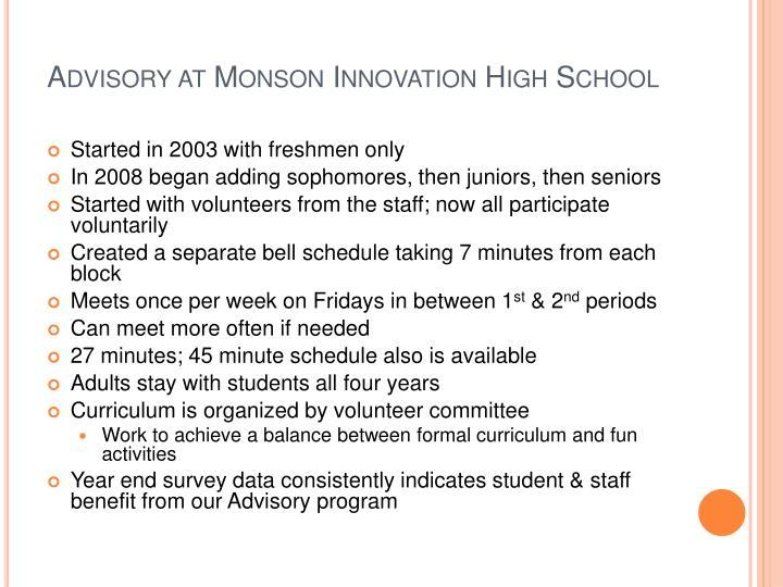Advisory at Monson