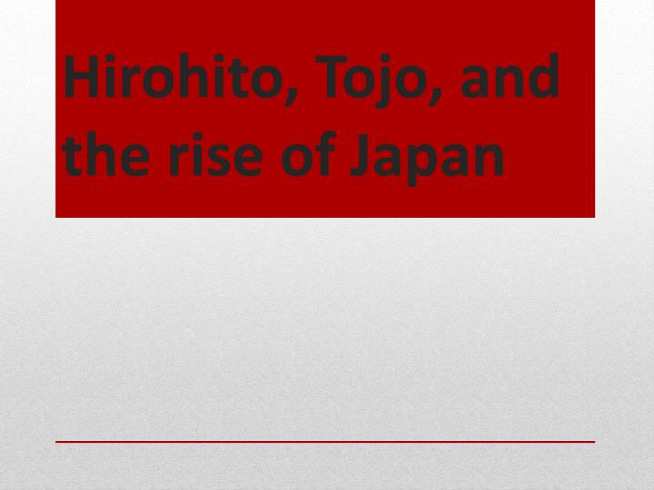 Hirohito,