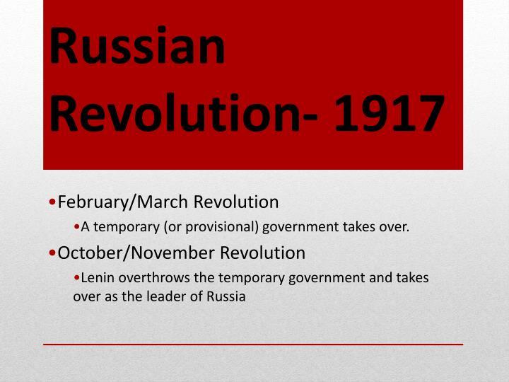 Russian Revolution- 1917