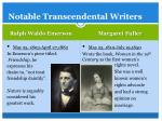 notable transcendental writers