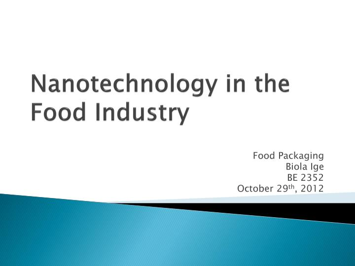 ppt - nanotechnology in the food industry powerpoint presentation, Presentation templates