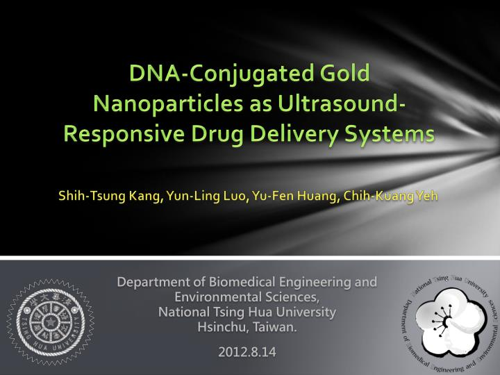 dna conjugated gold nanoparticles as ultrasound responsive drug delivery systems n.
