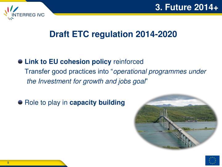 Draft ETC regulation 2014-2020