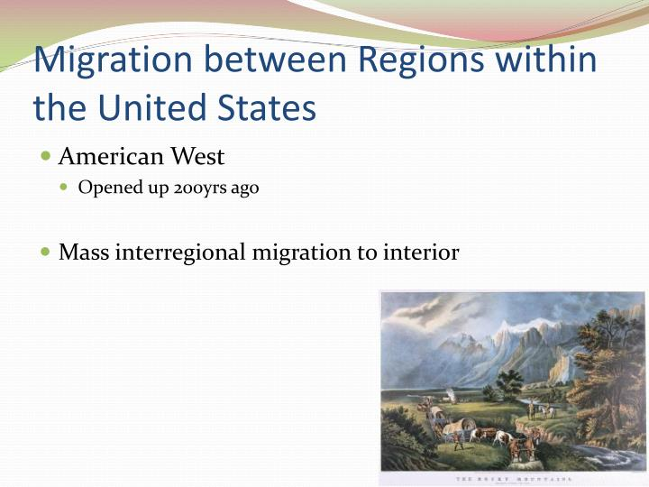 Migration between Regions within the United States