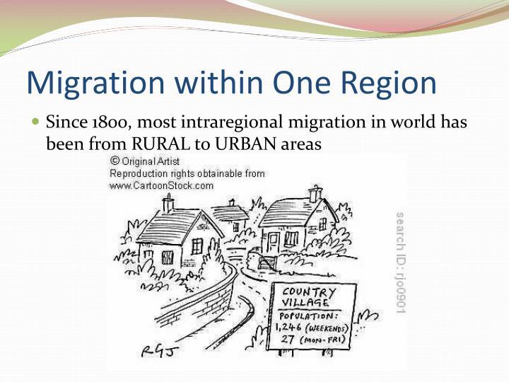 Migration within One Region