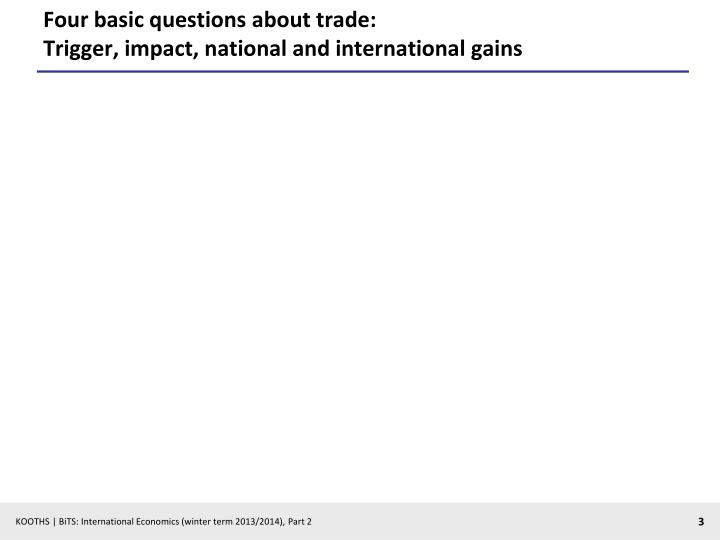 Four basic questions about trade trigger impact national and international gains