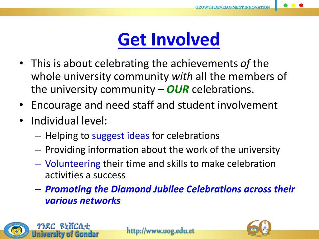 PPT - Diamond Jubilee Celebrations of University of Gondar