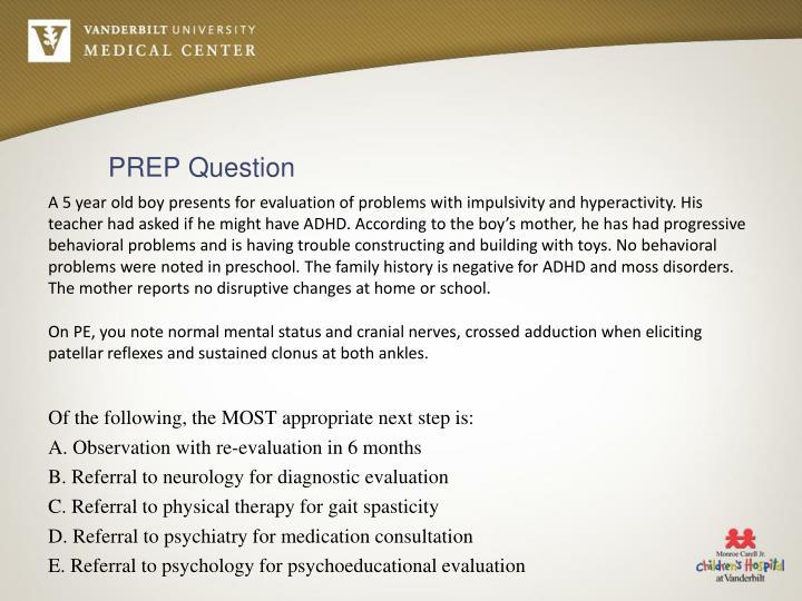 PREP Question