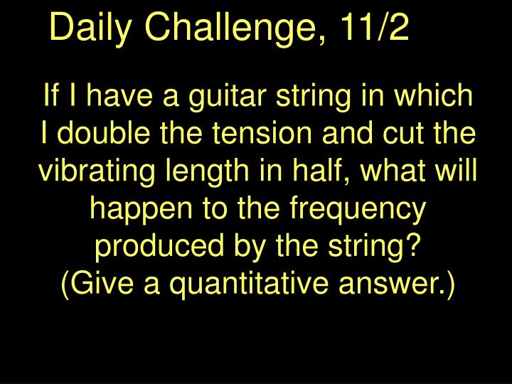 Daily Challenge, 11/2