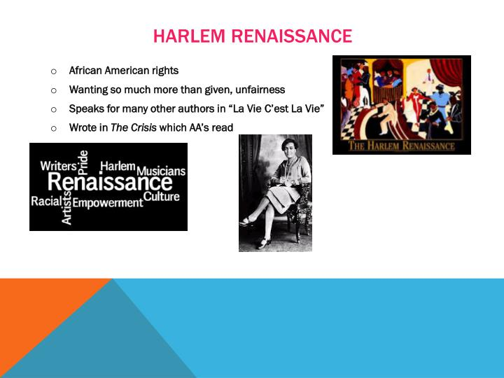 the harlem renaissance authors essay Renaissance essays and papersstarting with black literature, the harlem renaissance quickly grew to incredible proportions complete summary of harlem renaissance to open their doors to black authors, the stage was set: harlem became a vibrant site of artistic experimentationmarcus garvey.