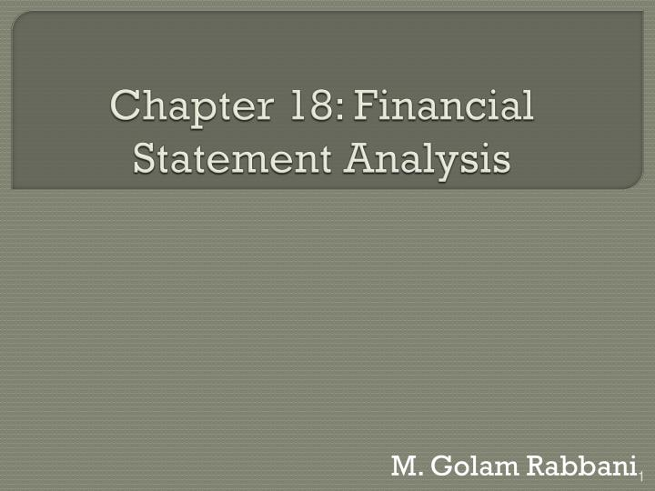 chapter 18 financial statement analysis n.